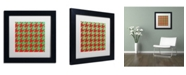"""Trademark Global Color Bakery 'Xmas Houndstooth' Matted Framed Art - 11"""" x 11"""""""