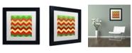 "Trademark Global Color Bakery 'Xmas Chevron' Matted Framed Art - 11"" x 11"""