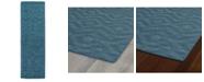 "Kaleen Imprints Modern IPM04-78 Turquoise 2'6"" x 8' Runner Rug"