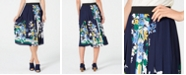 Charter Club Printed Pleated Midi Skirt, Created for Macy's