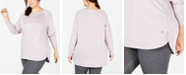 Ideology Plus Size Tulip-Hem Top, Created for Macy's