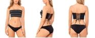 Salt + Cove Juniors' Smocked Bandeau Bikini Top & Ruffled Hipster Bikini Bottoms, Created for Macy's