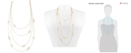 "RACHEL Rachel Roy Gold-Tone Open Leaf 21"" Multi-Strand Necklace"