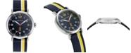Nautica N83 Men's NAPWLS907 Wakeland Blue/Yellow Stripe Fabric Strap Watch