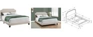 Monarch Specialties Queen Linen Bed