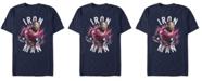Marvel Men's Avengers Iron-Man Star Burst Short Sleeve T-Shirt