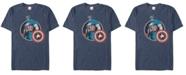 Marvel Men's Comic Collection Retro Captain America Smiling Short Sleeve T-Shirt