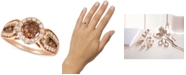 Le Vian Chocolate Diamonds® (5/8 ct. t.w.) & Nude Diamonds™ (1/2 ct. t.w.) Statement Ring in 14k Rose Gold & 14k White Gold