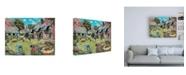"""Trademark Global Trevor Mitchell A Cottage Garden Canvas Art - 27"""" x 33.5"""""""