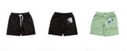 Bear Camp Little Boy Splatter Print Jogger Shorts