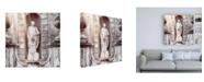 "Trademark Global Philippe Hugonnard Dolce Vita Rome 3 Vatican Statue IV Canvas Art - 15.5"" x 21"""