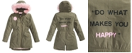 S Rothschild & CO Big Girls Hooded Happy Coat With Faux-Fur Trim