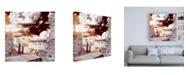 "Trademark Global Philippe Hugonnard Dolce Vita Rome 3 Rome Facades IV Canvas Art - 15.5"" x 21"""