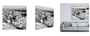"""Trademark Global Philippe Hugonnard Made in Spain 3 White Town of Antequera B&W Canvas Art - 36.5"""" x 48"""""""