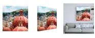 "Trademark Global Philippe Hugonnard Viva Mexico 3 Guanajuato Church Domes II Canvas Art - 36.5"" x 48"""