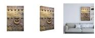 """Trademark Global Philippe Hugonnard Made in Spain Door Knocker on Copper Door of the Mezquita in Cordoba Canvas Art - 36.5"""" x 48"""""""