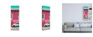 "Trademark Global Philippe Hugonnard Viva Mexico 2 VW Beetle Car and Pink Wall Canvas Art - 19.5"" x 26"""