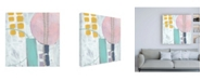 "Trademark Global Chariklia Zarris Lollipop Abstract IV Canvas Art - 15.5"" x 21"""