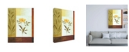 "Trademark Global Pablo Esteban Orange Flower and Leaves Canvas Art - 19.5"" x 26"""