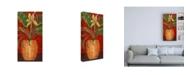 """Trademark Global Pablo Esteban Tropical Flower in Wicker Canvas Art - 36.5"""" x 48"""""""