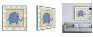 "Trademark Global Chariklia Zarris Katherines Elephant Childrens Art Canvas Art - 15.5"" x 21"""