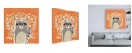 "Trademark Global June Erica Vess Woodland Cutie II Canvas Art - 19.5"" x 26"""