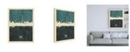 "Trademark Global Michael Tompsett Paris France Skyline Teal Canvas Art - 19.5"" x 26"""