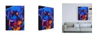 "Trademark Global DawgArt Rottie Dexter Canvas Art - 36.5"" x 48"""