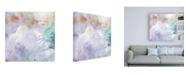 "Trademark Global Sheila Golden Purple Wind Abstract II Canvas Art - 19.5"" x 26"""