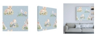 "Trademark Global Jenaya Jackson Spring Sentiments Pattern VIA Canvas Art - 15.5"" x 21"""