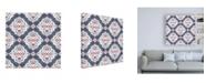 "Trademark Global Pela Studio Bazaar Patchwork Pattern IIB Canvas Art - 19.5"" x 26"""