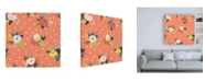 "Trademark Global Laura Marshall Wild Garden Pattern VB Canvas Art - 19.5"" x 26"""