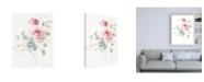 "Trademark Global Danhui Nai Cottage Garden II on White Canvas Art - 27"" x 33.5"""