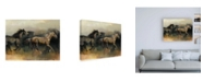"Trademark Global Marilyn Hageman Roaming the West Crop Canvas Art - 15.5"" x 21"""