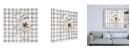 "Trademark Global Danhui Nai Sketchbook Garden VII Checker Family Canvas Art - 15.5"" x 21"""