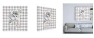 "Trademark Global Danhui Nai Sketchbook Garden IX Checker Together Canvas Art - 19.5"" x 26"""