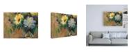 "Trademark Global Jeanette Vertentes Glass Floral Canvas Art - 27"" x 33.5"""