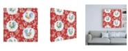 "Trademark Global Daphne Brissonnet Morning Bloom Pattern IC Canvas Art - 15.5"" x 21"""