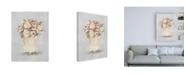 "Trademark Global Cheri Blum Parlor Roses I Sage Canvas Art - 15.5"" x 21"""