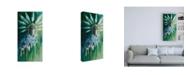 "Trademark Global Stephanie Aguila Stork with Feathered Crown Canvas Art - 15.5"" x 21"""