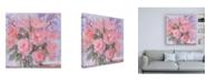 "Trademark Global Pamela Gaten Champagne Pinks Canvas Art - 15.5"" x 21"""