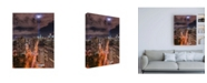 "Trademark Global Bruce Gett Tribute Lights Flatiron District Canvas Art - 19.5"" x 26"""