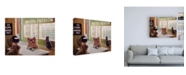 "Trademark Global Lucia Hefferna Feline Optical Canvas Art - 27"" x 33.5"""