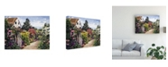 "Trademark Global David Lloyd Glover Rose House Garden Wall Canvas Art - 15"" x 20"""