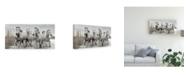"Trademark Global Lucie Bressy Running Gang Canvas Art - 37"" x 49"""