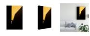 "Trademark Global Enrico Finotti Re Silhouette on Yellow Canvas Art - 37"" x 49"""