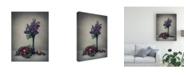 "Trademark Global Dimitar Lazarov Still Life with Lilac Canvas Art - 37"" x 49"""