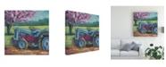 "Trademark Global Marnie Bourque Tractor Spring Canvas Art - 15"" x 20"""