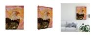 """Trademark Global Michelle Mccullough Majestic Eagle Orange Canvas Art - 37"""" x 49"""""""