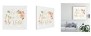 "Trademark Global Jenaya Jackson Blooming Delight VII White Canvas Art - 20"" x 25"""